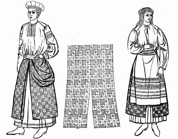 7a0809ea8db1c5 Суттєві відмінності має жіноча одежа рубіжних, прикордонних територій, де  завжди існувала небезпека ворожого вторгнення. Тут костюм поєднував у собі  плечову ...